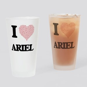 I Love Ariel (Heart Made from Love Drinking Glass