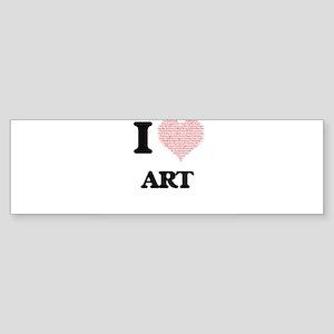 I Love Art (Heart Made from Love wo Bumper Sticker