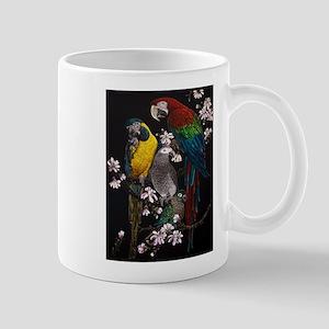 Parrots in Magnolia Mugs