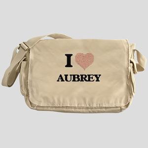I Love Aubrey (Heart Made from Love Messenger Bag