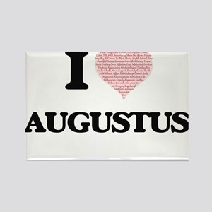 I Love Augustus (Heart Made from Love word Magnets