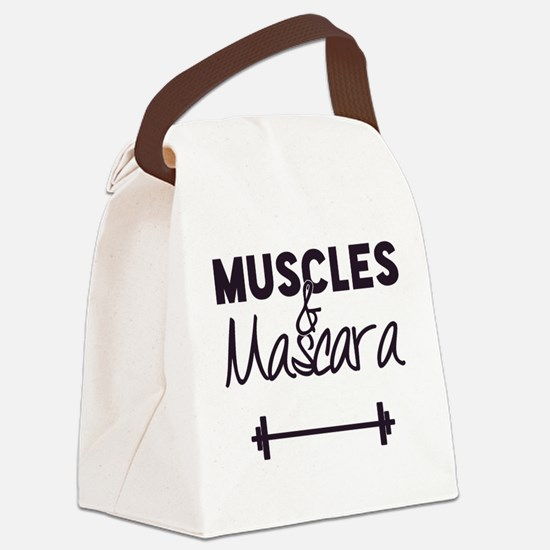 Muscles & Mascara Canvas Lunch Bag