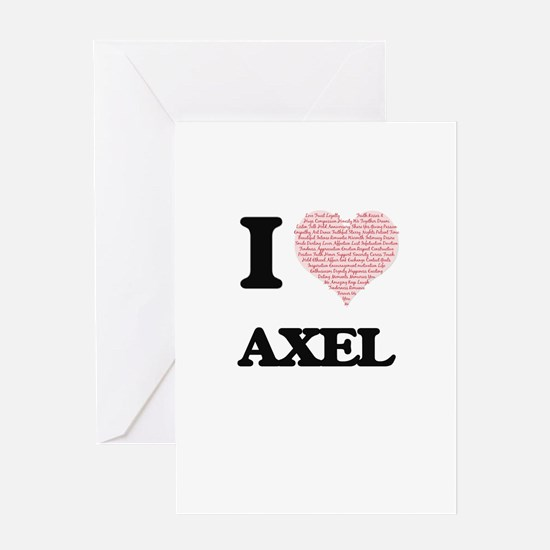 I Love Axel (Heart Made from Love w Greeting Cards