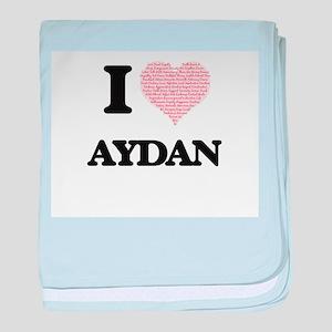 I Love Aydan (Heart Made from Love wo baby blanket