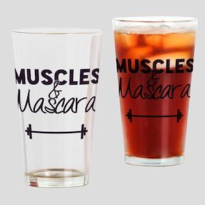 Muscles & Mascara Drinking Glass