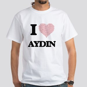 I Love Aydin (Heart Made from Love words) T-Shirt