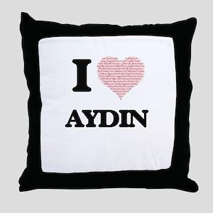 I Love Aydin (Heart Made from Love wo Throw Pillow