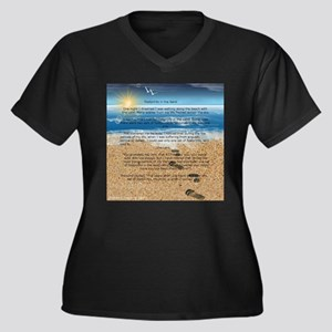Footprints in the Sand Plus Size T-Shirt