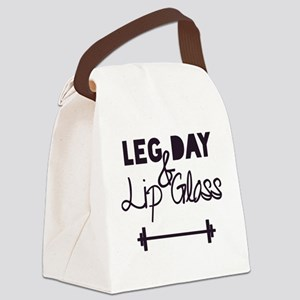 Leg Day & Lip Gloss Canvas Lunch Bag