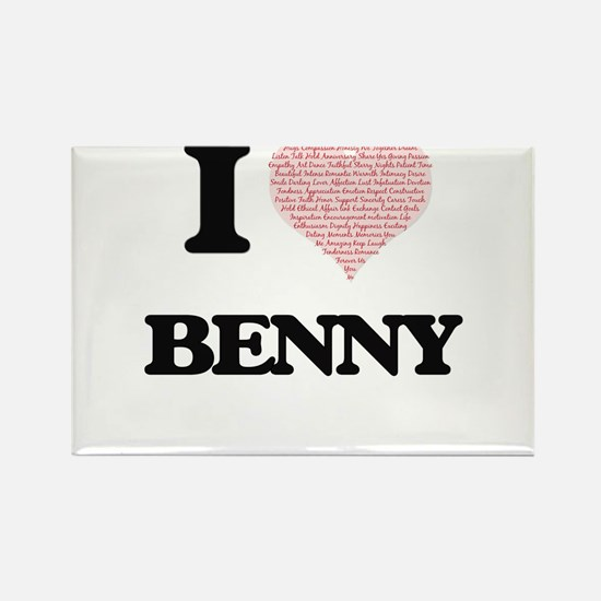 I Love Benny (Heart Made from Love words) Magnets