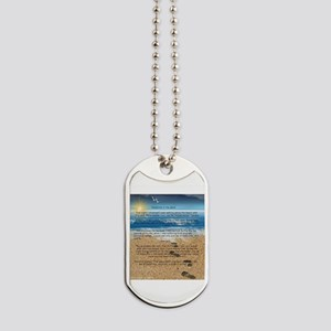 Footprints in the Sand Dog Tags