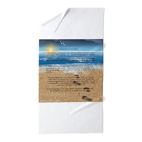 Beach towels on sand Family Beach Footprints In The Sand Beach Towel Cafepress Footprints In The Sand Beach Towels Cafepress