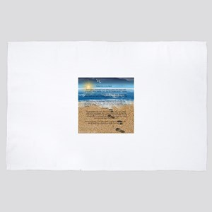 Footprints in the Sand 4' x 6' Rug