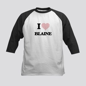 I Love Blaine (Heart Made from Lov Baseball Jersey