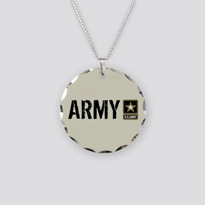 U.S. Army: Army (Sand) Necklace Circle Charm