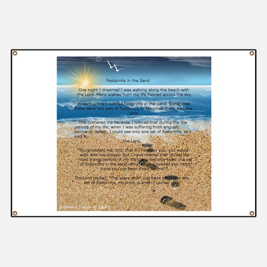 Footprints in the Sand Banner