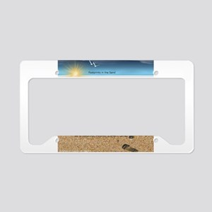 Footprints in the Sand License Plate Holder