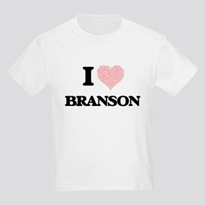 I Love Branson (Heart Made from Love words T-Shirt