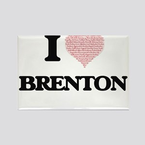 I Love Brenton (Heart Made from Love words Magnets