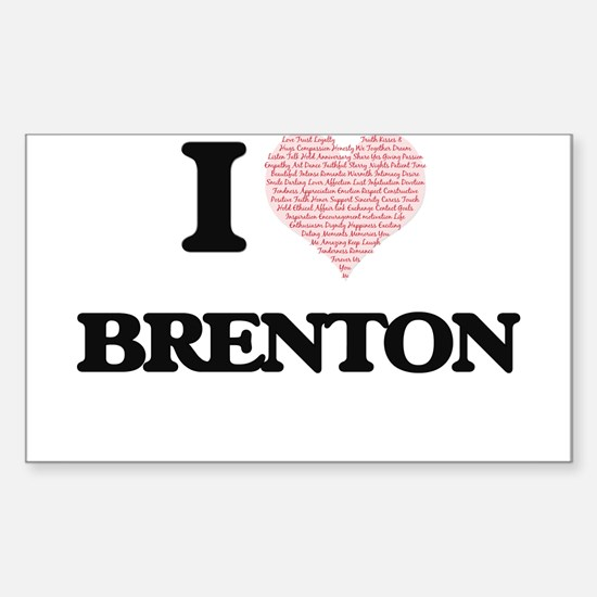 I Love Brenton (Heart Made from Love words Decal