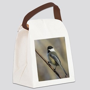 Chickadee Bird Canvas Lunch Bag