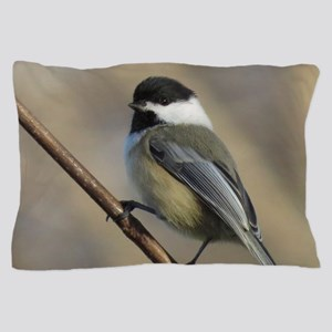 Chickadee Bird Pillow Case