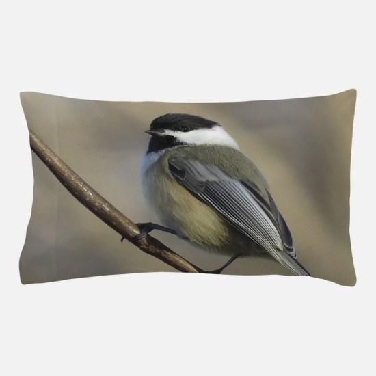 Chickadee Bird Pillow Case