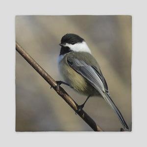 Chickadee Bird Queen Duvet