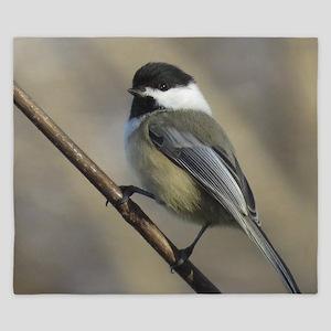 Chickadee Bird King Duvet