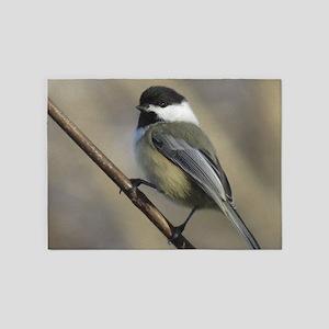 Chickadee Bird 5'x7'Area Rug