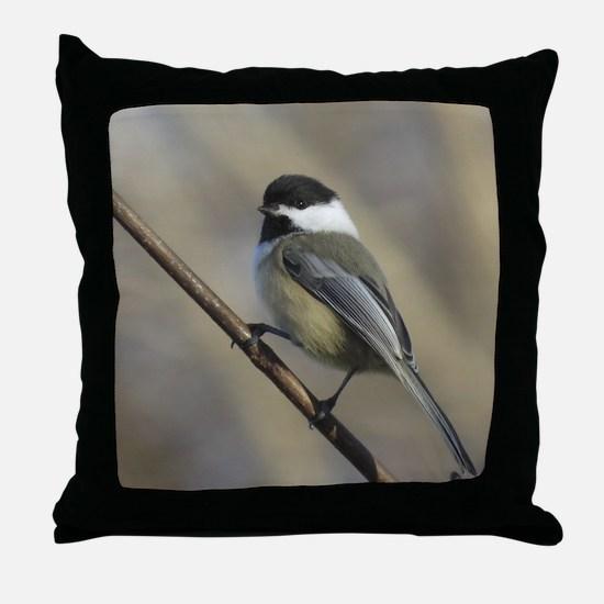 Chickadee Bird Throw Pillow