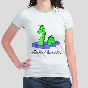 Nessie Ate Homework Jr. Ringer T-Shirt