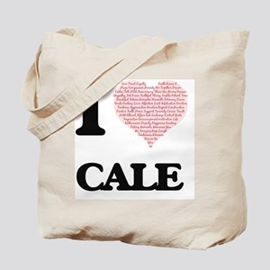 I Love Cale (Heart Made from Love words) Tote Bag