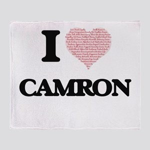 I Love Camron (Heart Made from Love Throw Blanket