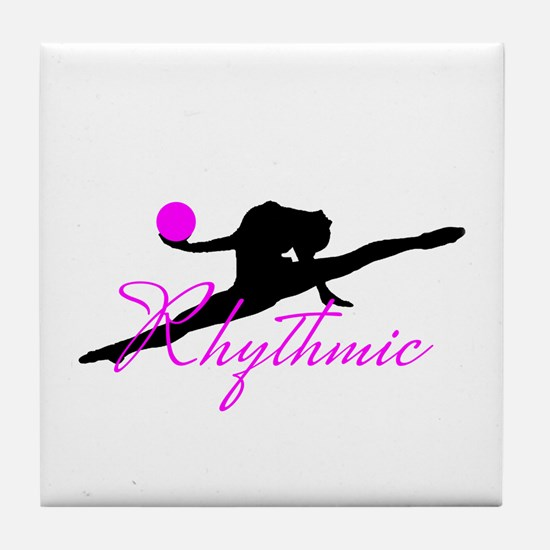 Pink Rhythmic Gymnast Tile Coaster
