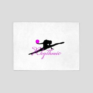 Pink Rhythmic Gymnast 5'x7'Area Rug
