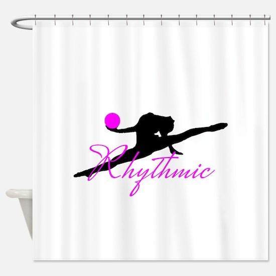 Pink Rhythmic Gymnast Shower Curtain