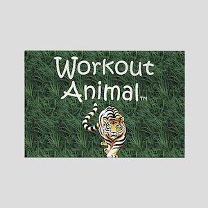 Workout Animal Rectangle Magnet