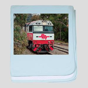 SCT train locomotive engine, Australi baby blanket