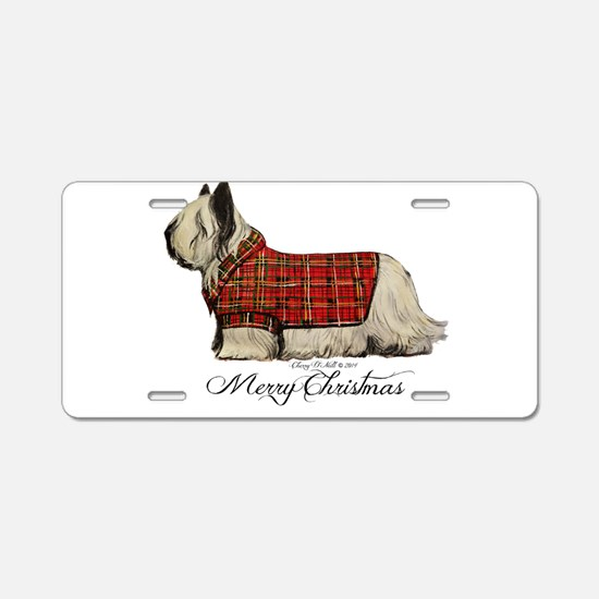 Skye Terrier Aluminum License Plate