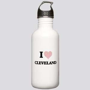 I Love Cleveland (Hear Stainless Water Bottle 1.0L