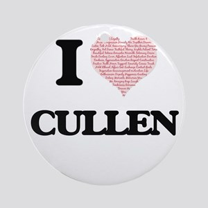 I Love Cullen (Heart Made from Love Round Ornament