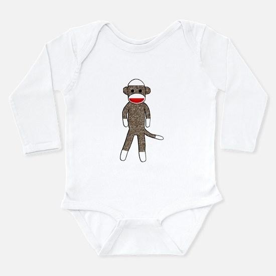 Cute Sock monkey Long Sleeve Infant Bodysuit