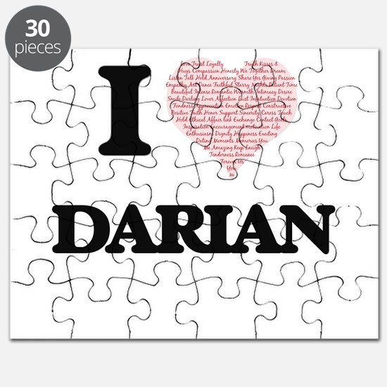 I Love Darian (Heart Made from Love words) Puzzle
