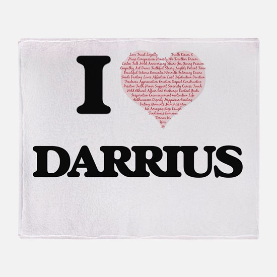 I Love Darrius (Heart Made from Love Throw Blanket