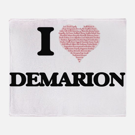 I Love Demarion (Heart Made from Lov Throw Blanket