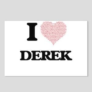 I Love Derek (Heart Made Postcards (Package of 8)