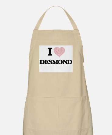 I Love Desmond (Heart Made from Love words) Apron