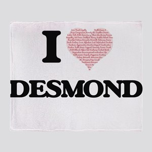 I Love Desmond (Heart Made from Love Throw Blanket