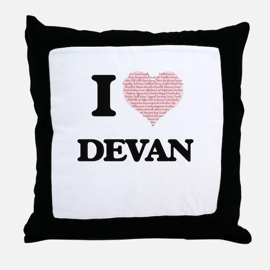 I Love Devan (Heart Made from Love wo Throw Pillow